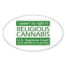Religious Cannabis Oval Decal