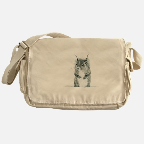 Cute Squirrel Drawing Messenger Bag