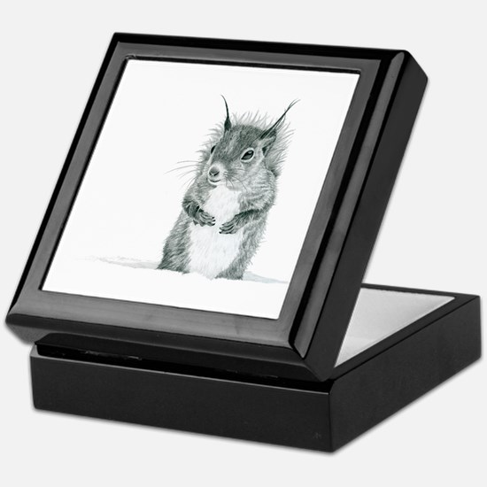 Cute Squirrel Drawing Keepsake Box