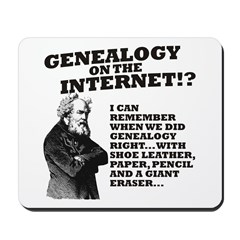 Genealogy On The Internet? Mousepad