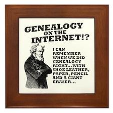 Genealogy On The Internet? Framed Tile