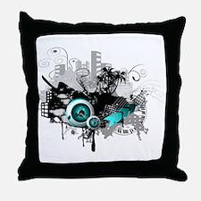 modern music background Throw Pillow
