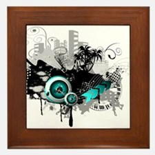 modern music background Framed Tile