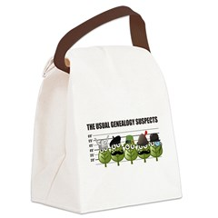 The Usual Genealogy Suspects Canvas Lunch Bag