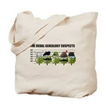The Usual Genealogy Suspects Tote Bag