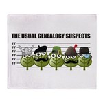 The Usual Genealogy Suspects Throw Blanket
