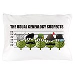 The Usual Genealogy Suspects Pillow Case