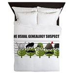 The Usual Genealogy Suspects Queen Duvet