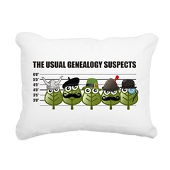 The Usual Genealogy Suspects Rectangular Canvas Pi