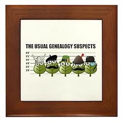 The Usual Genealogy Suspects Framed Tile