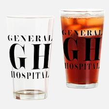 General Hospital Black Drinking Glass