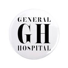 "General Hospital Black 3.5"" Button (100 pack)"