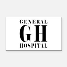 General Hospital Black Rectangle Car Magnet