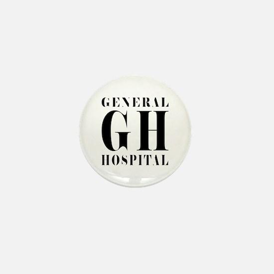 General Hospital Black Mini Button