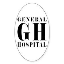 General Hospital Black Decal