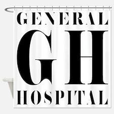 General Hospital Black Shower Curtain