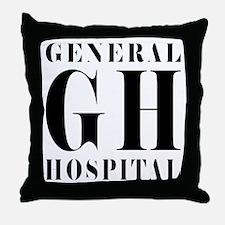 General Hospital Black Throw Pillow
