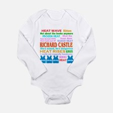 Richard Castle Funny Quotes Long Sleeve Infant Bod