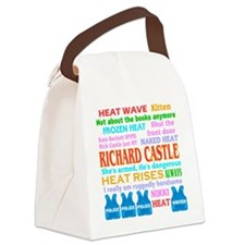 Richard Castle Funny Quotes Canvas Lunch Bag
