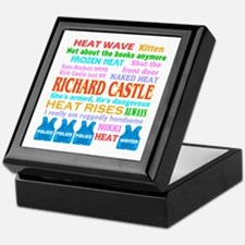 Richard Castle Funny Quotes Keepsake Box