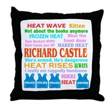 Richard Castle Funny Quotes Throw Pillow
