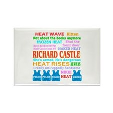 Richard Castle Funny Quotes Rectangle Magnet