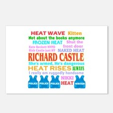 Richard Castle Funny Quotes Postcards (Package of