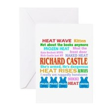 Richard Castle Funny Quotes Greeting Cards (Pk of