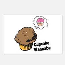 Funny Cupcake Wannabe Muffin Postcards (Package of