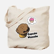 Funny Cupcake Wannabe Muffin Tote Bag