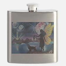 Midnight Stroll with my Cocker Spaniel Flask