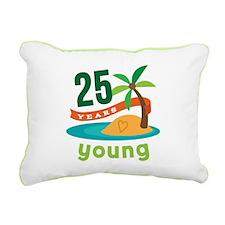 25th Birthday Tropical Rectangular Canvas Pillow