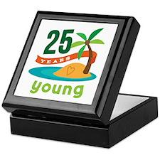 25th Birthday Tropical Keepsake Box