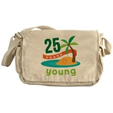 25th Birthday Tropical Messenger Bag