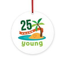 25th Birthday Tropical Ornament (Round)
