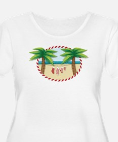 Christmas Stocking Beach Plus Size T-Shirt