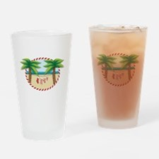 Christmas Stocking Beach Drinking Glass