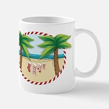 Christmas Stocking Beach Mug