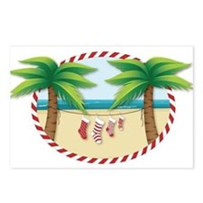 Christmas Stocking Beach Postcards (Package of 8)