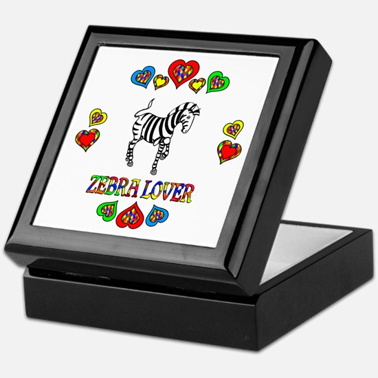 Zebra Lover Keepsake Box