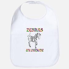 Awesome Zebras Bib