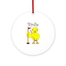 Birdie Ornament (Round)