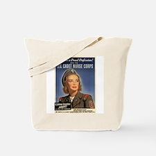 Wartime US Cadet Nurse Corps Tote Bag