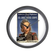 Wartime US Cadet Nurse Corps Wall Clock