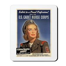 Wartime US Cadet Nurse Corps Mousepad