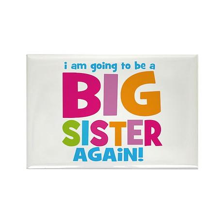 Big Sister Again Rectangle Magnet (10 pack)