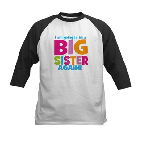 Big Sister Again Kids Baseball Jersey