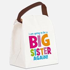 Big Sister Again Canvas Lunch Bag