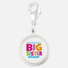 Big Sister Again Silver Round Charm