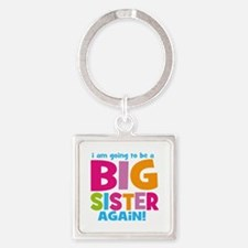 Big Sister Again Square Keychain